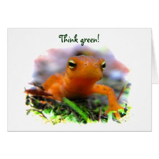 Red Eft Earth Day card