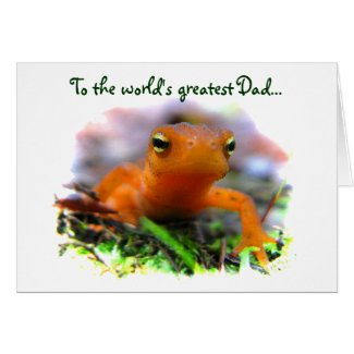 Red Eft Fathers Day Greeting Card
