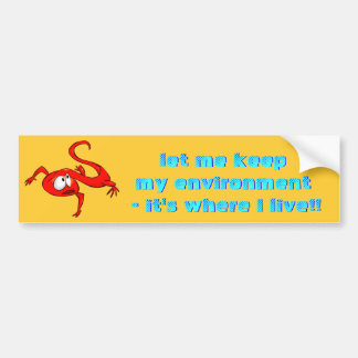 Red Eft Newt bumper sticker