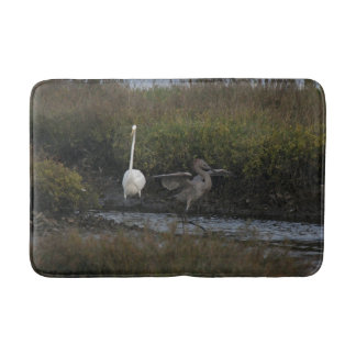 Red Egret Birds Wildlife Animal Wetland Bath Mat