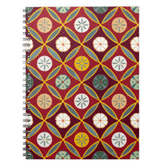 Red Egyptian Tiles Note Books