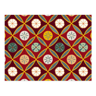 Red Egyptian Tiles Post Cards