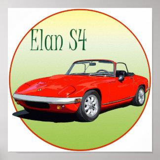 Red Elan S4 Poster