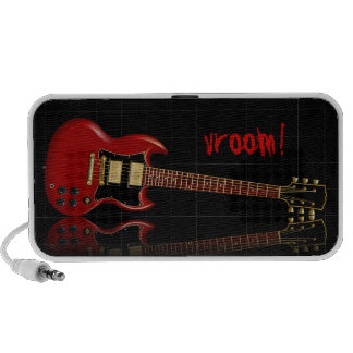 Red Electric Gibson SG Guitar Travel Speaker