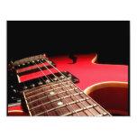 Red Electric Guitar 4.25x5.5 Paper Invitation Card