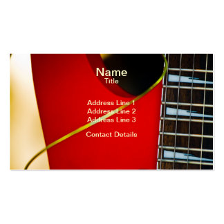 Red Electric Guitar Double-Sided Standard Business Cards (Pack Of 100)