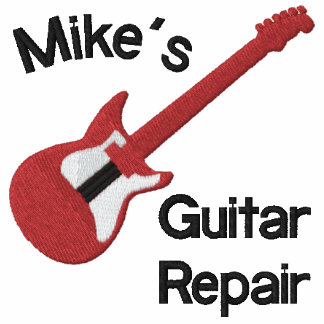 Red Electric Guitar Customizable Design Shirt