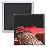 Red Electric Guitar Fridge Magnet