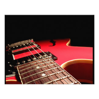 Red Electric Guitar Invites
