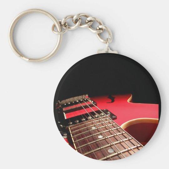 Red Electric Guitar Keychain Zazzle Com