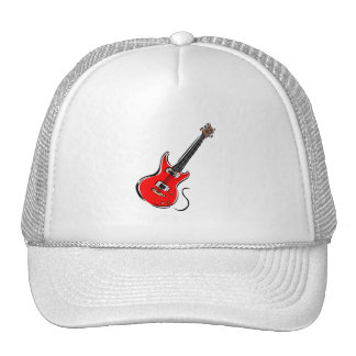 red electric guitar music graphic.png trucker hat