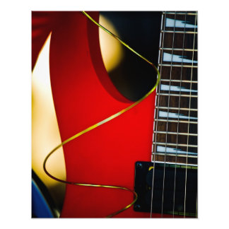 Red Electric guitar Photo