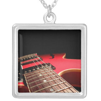 Red Electric Guitar Photo - PERSONALIZE Custom Necklace