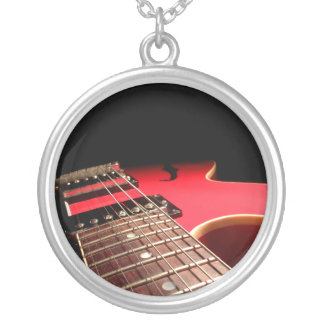 Red Electric Guitar Photo - PERSONALIZE Necklaces