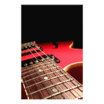 Red Electric Guitar Stationery Design