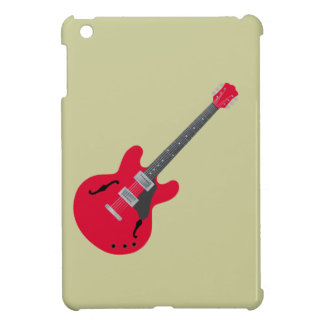 Red electric quitar case for the iPad mini