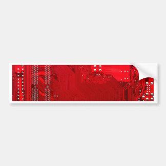 red electronic circuit board.JPG Bumper Sticker