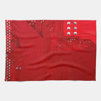 red electronic circuit board.JPG Kitchen Towel