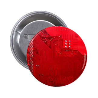 red electronic circuit board.JPG Pinback Button