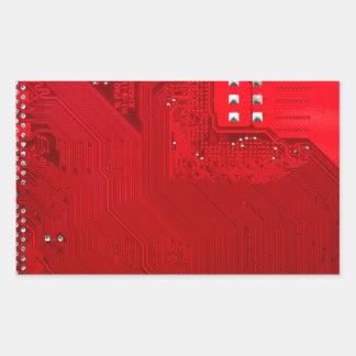 red electronic circuit board.JPG Rectangular Sticker