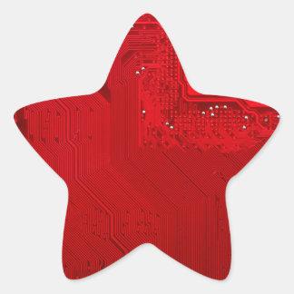 red electronic circuit board.JPG Star Sticker