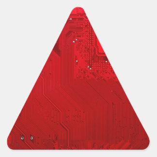 red electronic circuit board.JPG Triangle Sticker