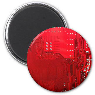 red electronic circuit motherboard pattern texture magnet
