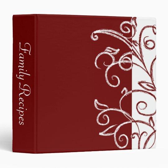 Red Elegance 3 Ring Binder