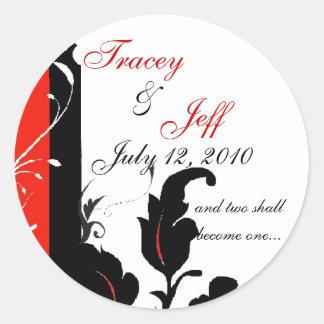 Red Elegance Wedding Sticker