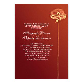 red elegant beautiful engagement party invites