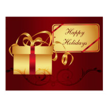 red elegant Christmas Greeting PostCards