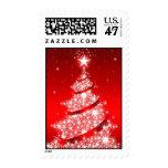 Red Elegant Christmas Tree Medium Postage
