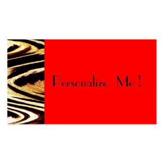 Red Elegant Cool Zigzag Chevron Unique Animal Business Card