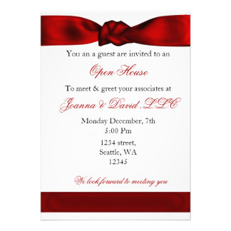 red elegant Corporate party Invitation