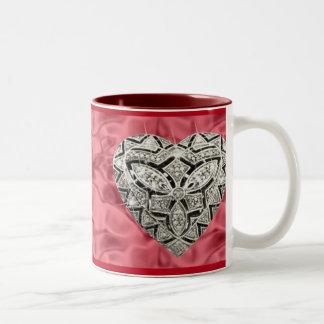 Red Elegant Designer Heart Mug