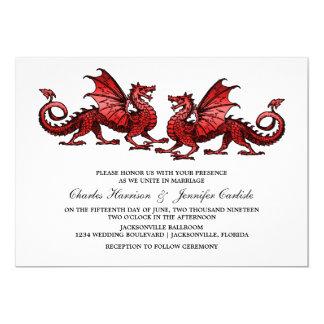 Red Elegant Dragon Wedding Invite