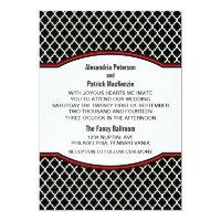 Red Elegant Quatrefoil Wedding Invite (<em>$2.16</em>)
