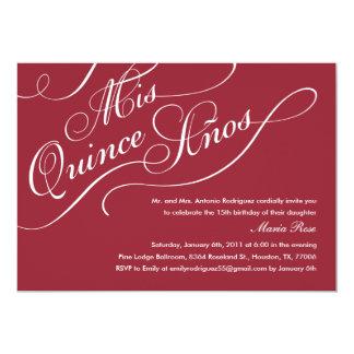 Red Elegant Quinceanera Invitations