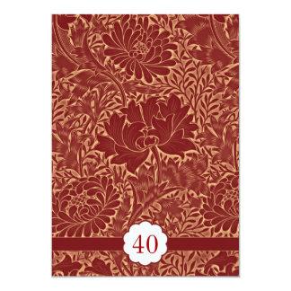 red elegant retro wedding anniversary invitations