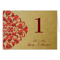 red Elegant table seating card