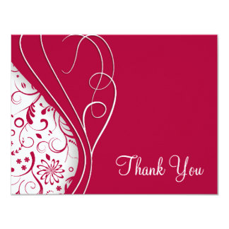 Red Elegant Thank you cards