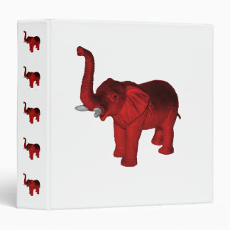 Red Elephant 3 Ring Binder