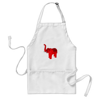 Red Elephant Adult Apron