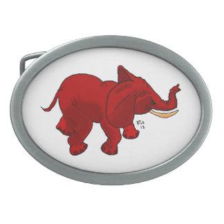 Red Elephant belt buckle
