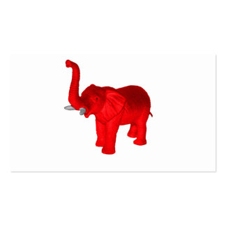 Red Elephant Business Card Template
