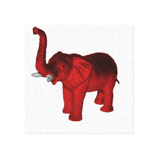 Red Elephant Gallery Wrap Canvas