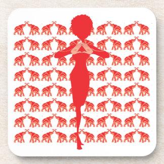 Red Elephant Cork Coaster