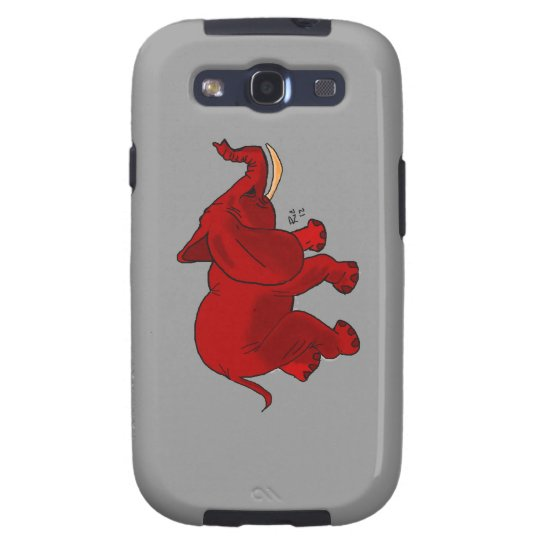 Red Elephant Design Samsung Galaxy SIII Cover