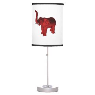 Red Elephant Desk Lamp