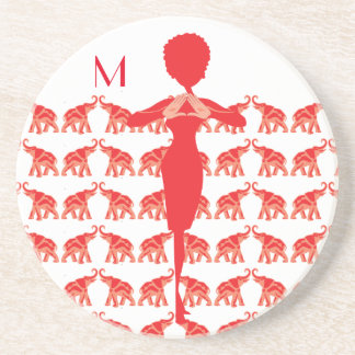 Red Elephant Drink Coaster